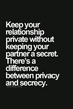 reasons for keeping a relationship secret