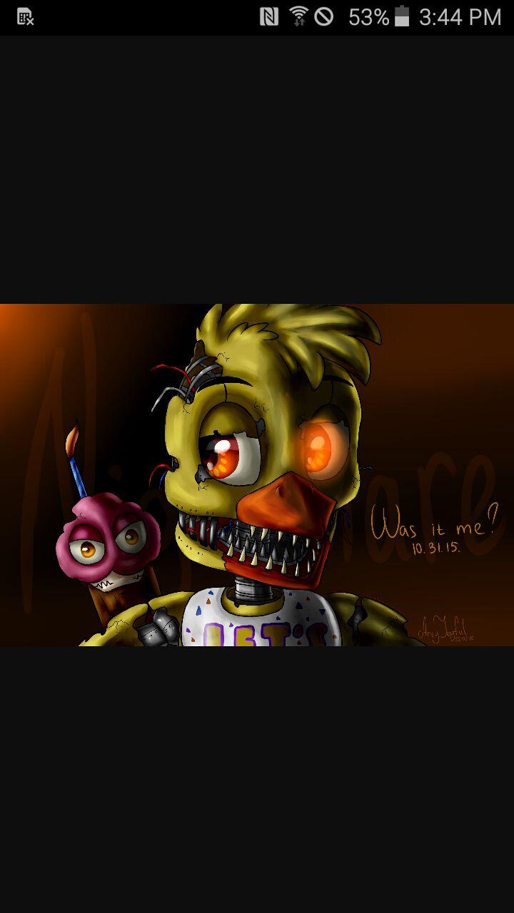 child/chibi!F N A F x reader - child! Nightmare Chica x