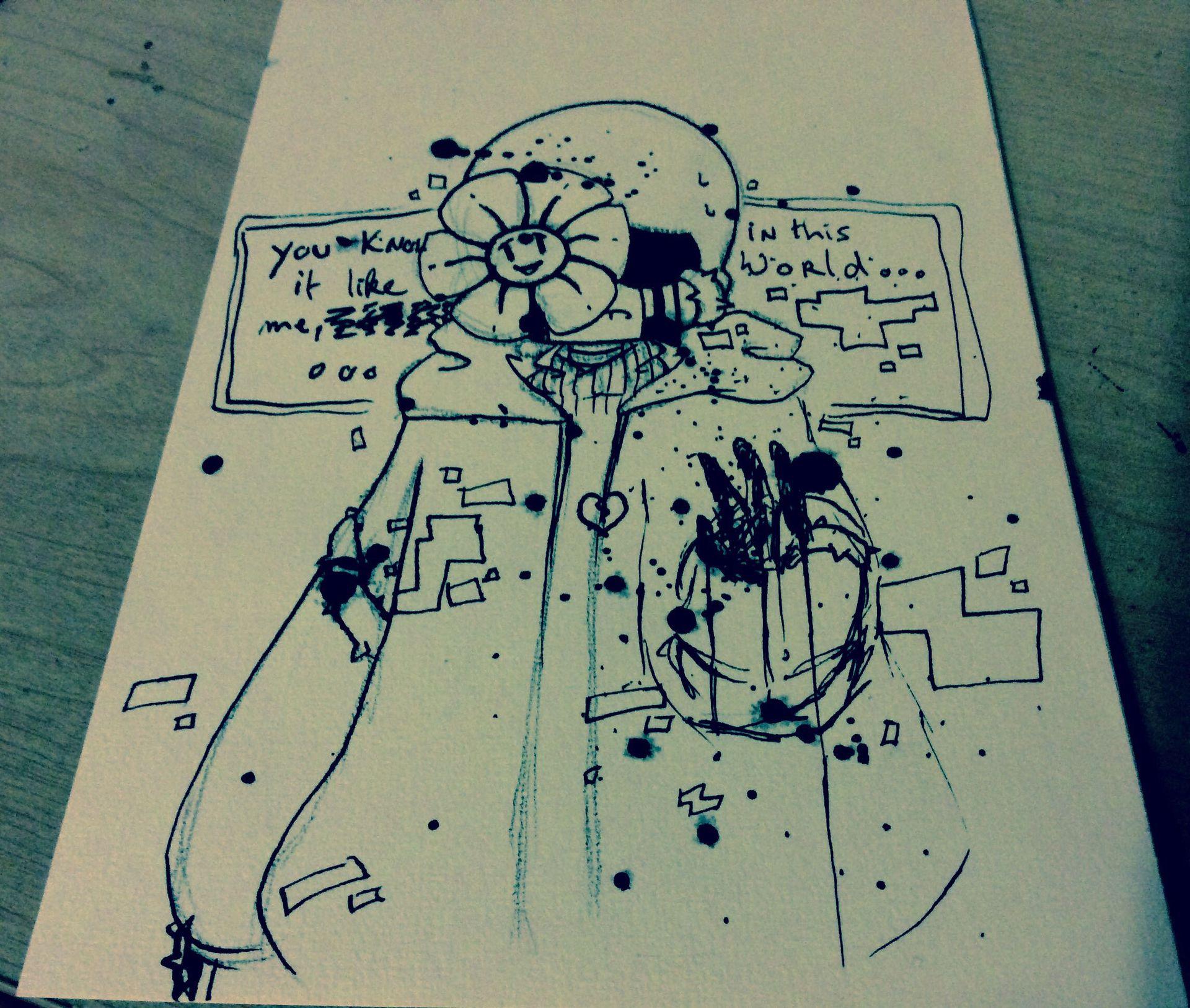Undertale Drawings Dessins Undertale T 2 Flowey Possesion Wattpad