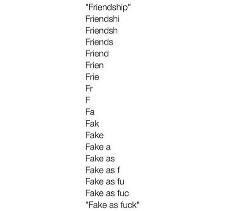 Fake friends poems