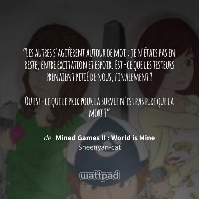 Des Citations Et Belles Phrases World Is Mine I Wattpad