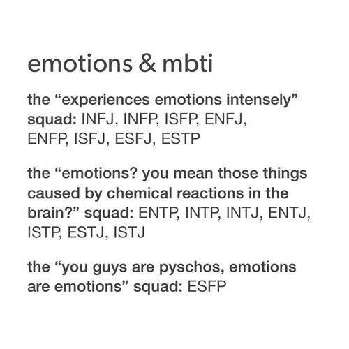 MBTI Personality - (40) Emotions - Wattpad