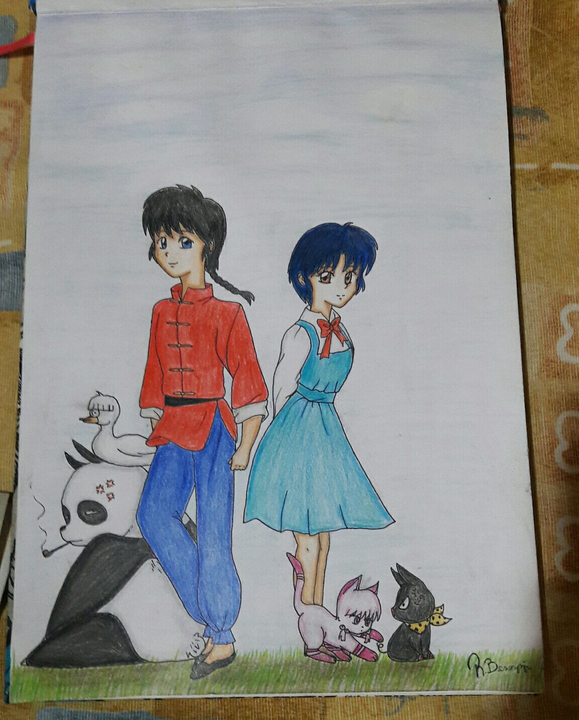 Dibujos Kawaii De Amor A Lapiz Faciles