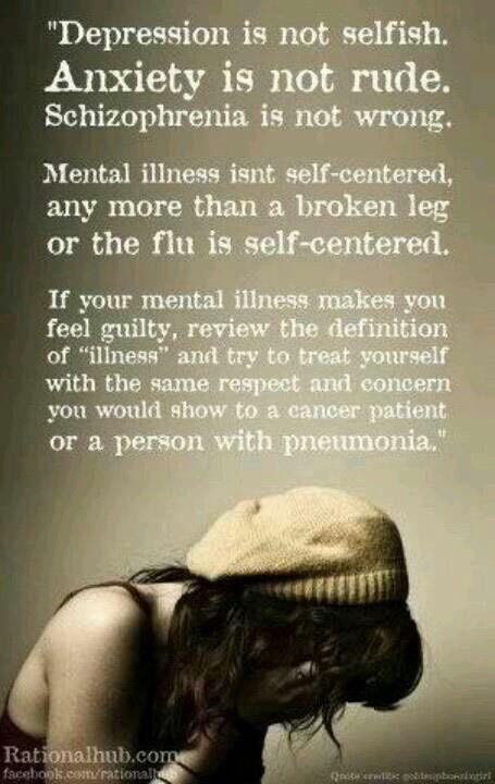 Mental Illness Quotes - Depression,Anxiety,Schizophrenia