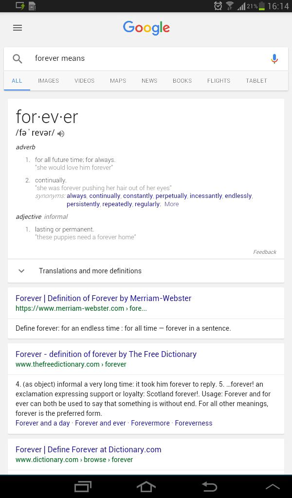 what is the definition of forever