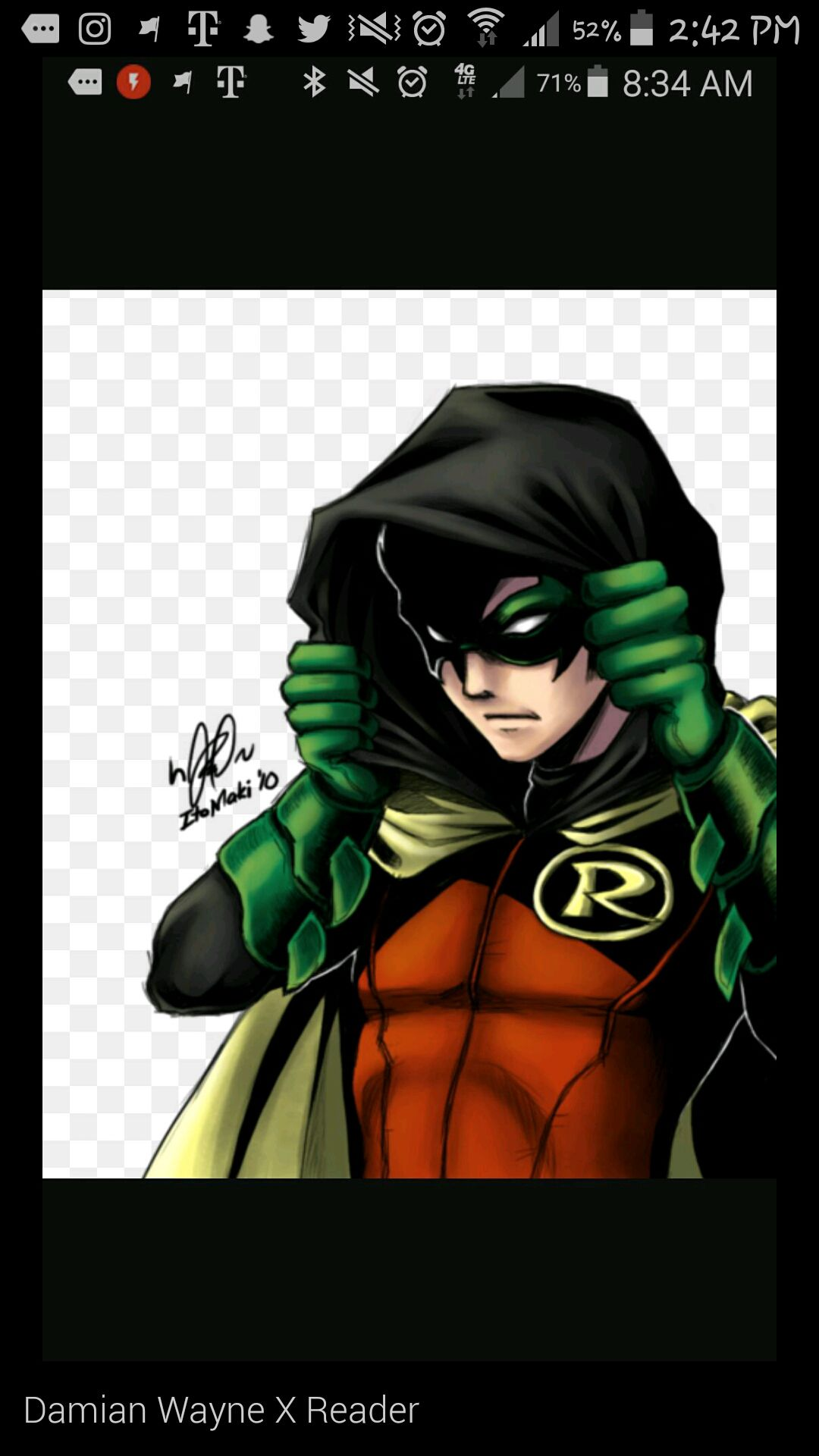 Various x reader one-shots (Request are open!!! ) - Damian Wayne X