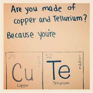 copper tellurium pick up line