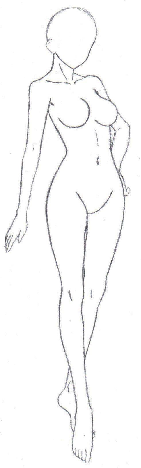 Anime Body Base Drawing
