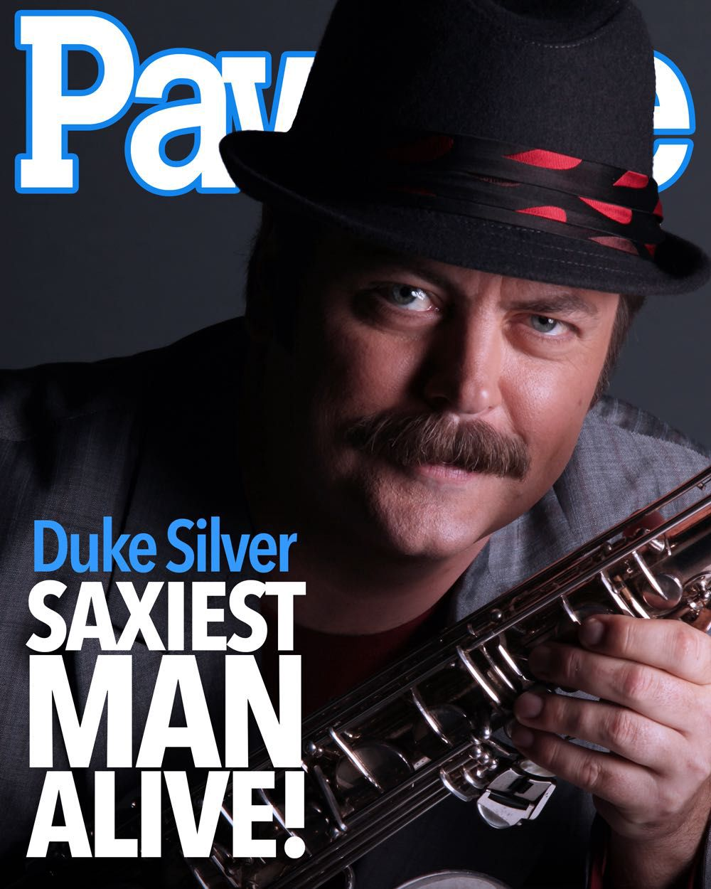can nick offerman play saxophone