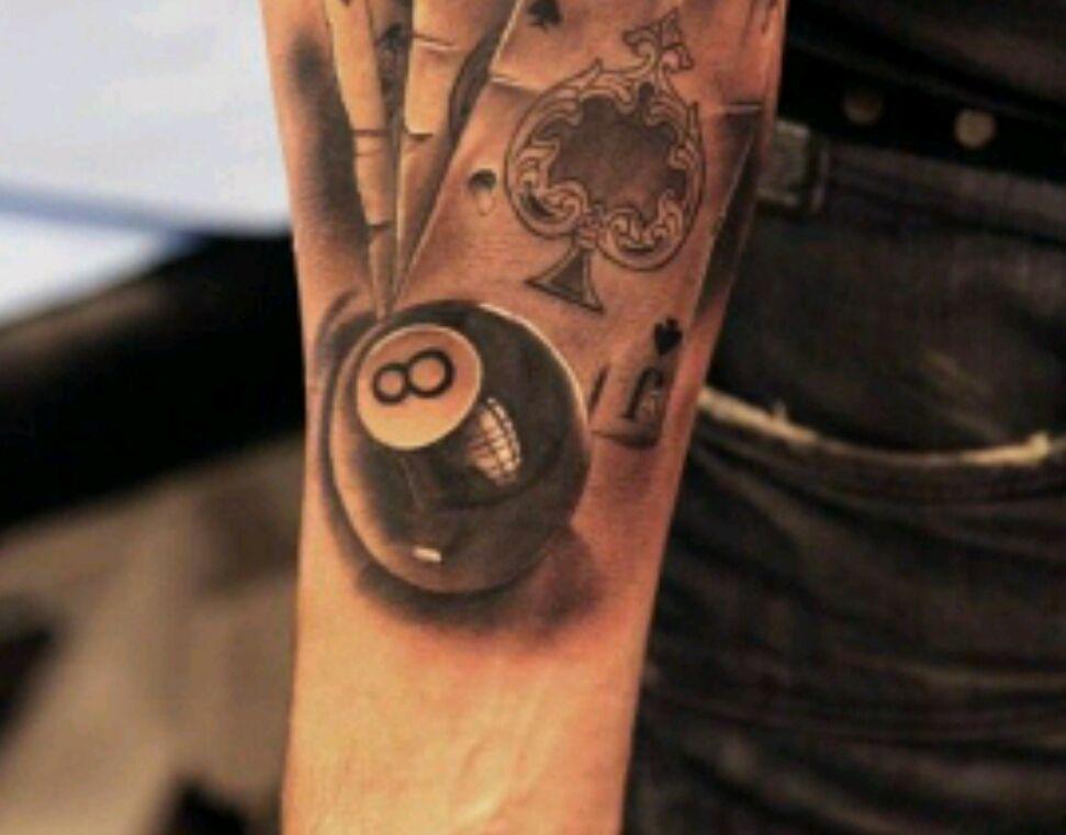 Célèbre Significations de Tatouages / Symboles.. 2 - Boule de billard 8  IN76