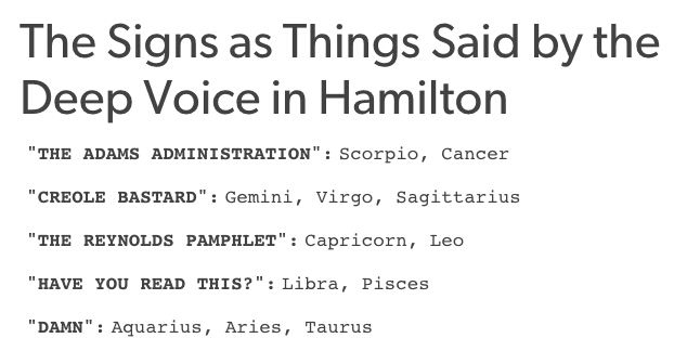 The Deep Voices In Hamilton