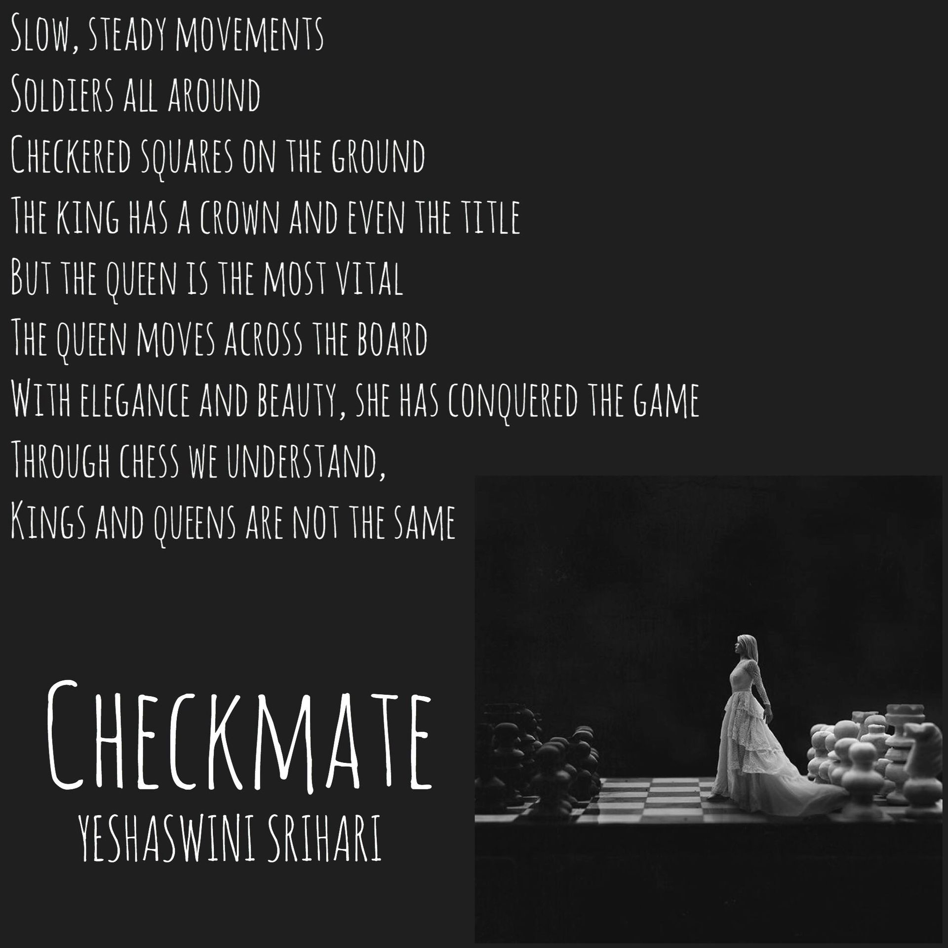 Through poetry, I fly - CHECKMATE - Wattpad