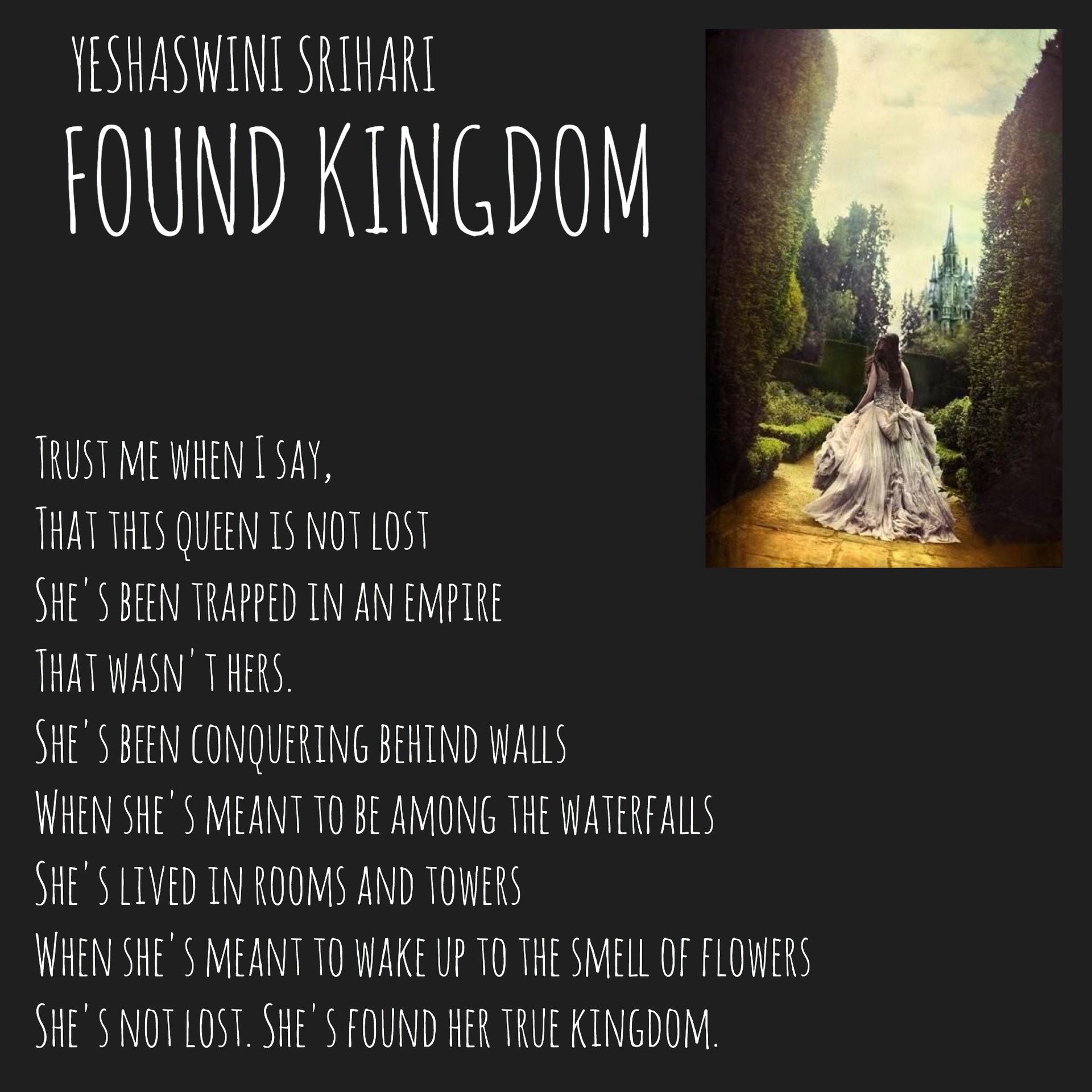 Through poetry, I fly - FOUND KINGDOM - Wattpad