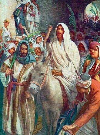 Resultado de imagen de JESÚS CON EL BURRO