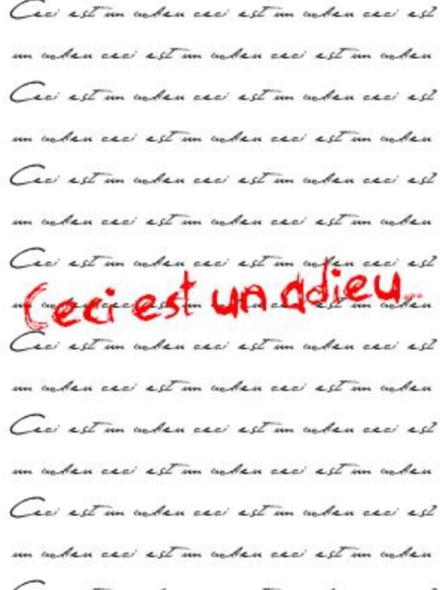 Les Lettres Adieu Wattpad