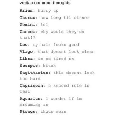 The Book of Zodiac Signs - Zodiacs Common Thoughts - Wattpad