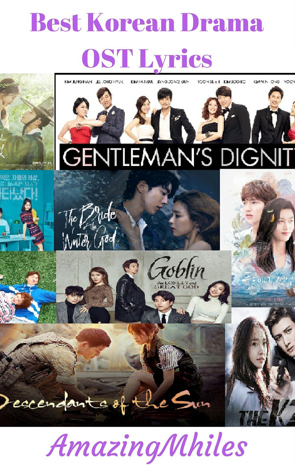 Best Korean Drama Series OST Lyrics - Author's Note - Wattpad