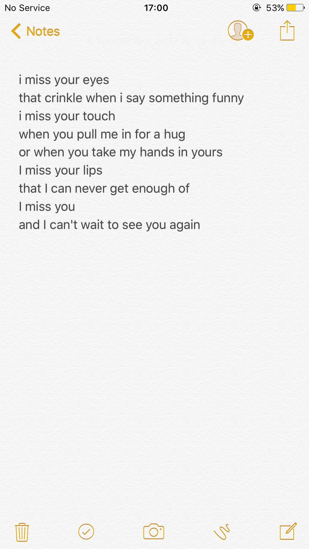 i miss your touch poem