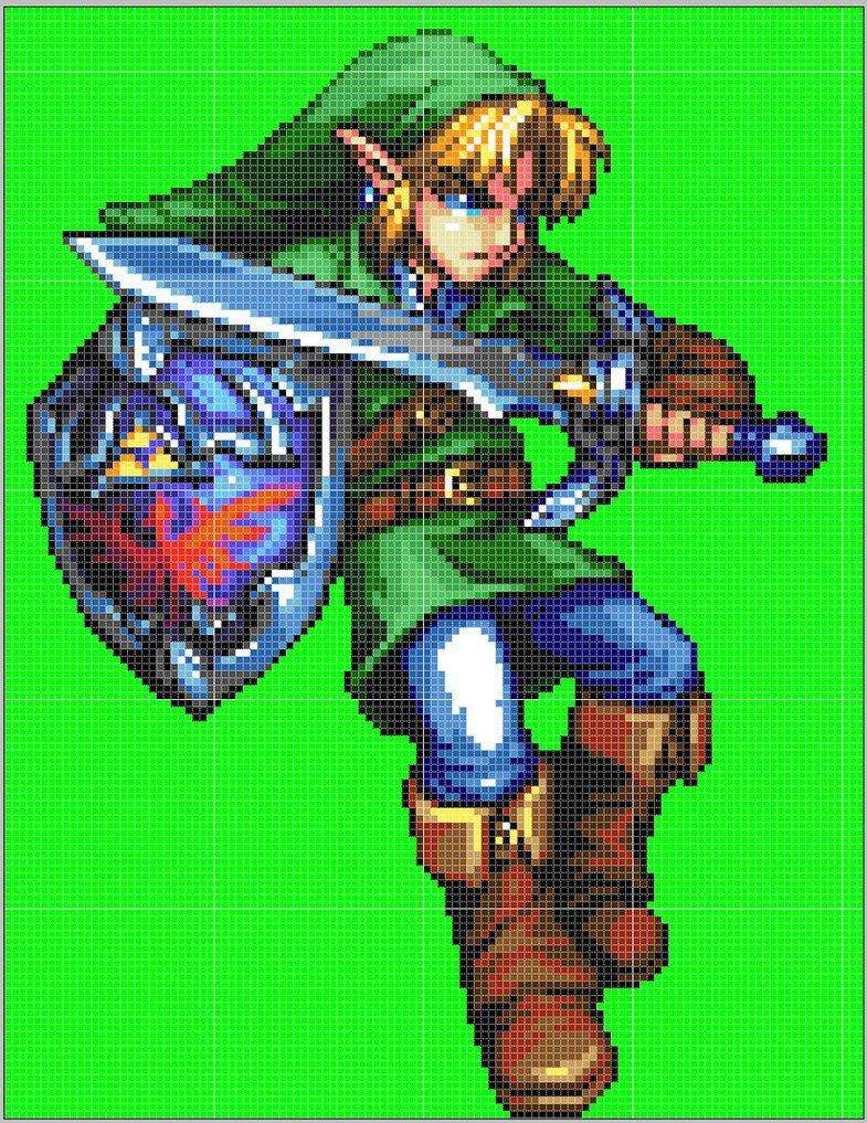 Ma Galerie De Dessins Link The Legend Of Zelda Oot Pixel