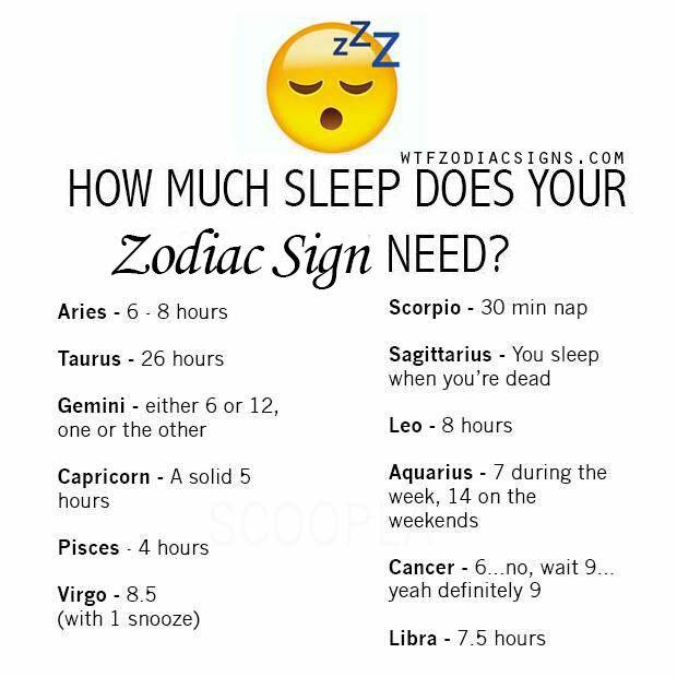 Zodiac Signs - How much sleep do the signs need? - Wattpad