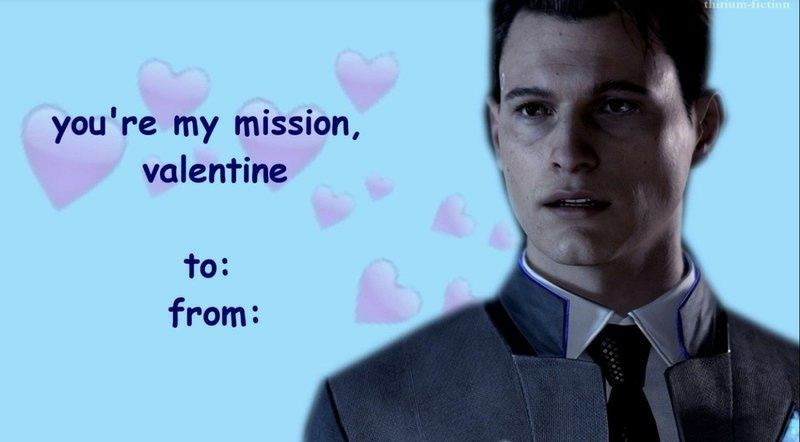 Detroit: Become Human Connor X Reader Oneshots - Valentine's