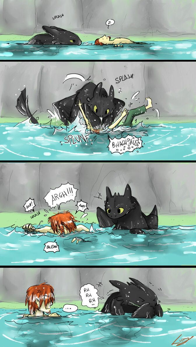 Hiccup x Toothless - Getting comfortable - Wattpad