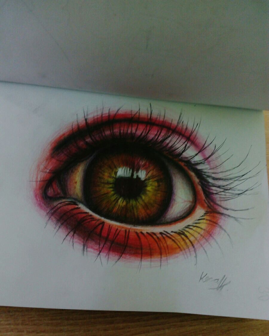 Kresleni Moje Vykresy Oko Realne Pastelkami Wattpad