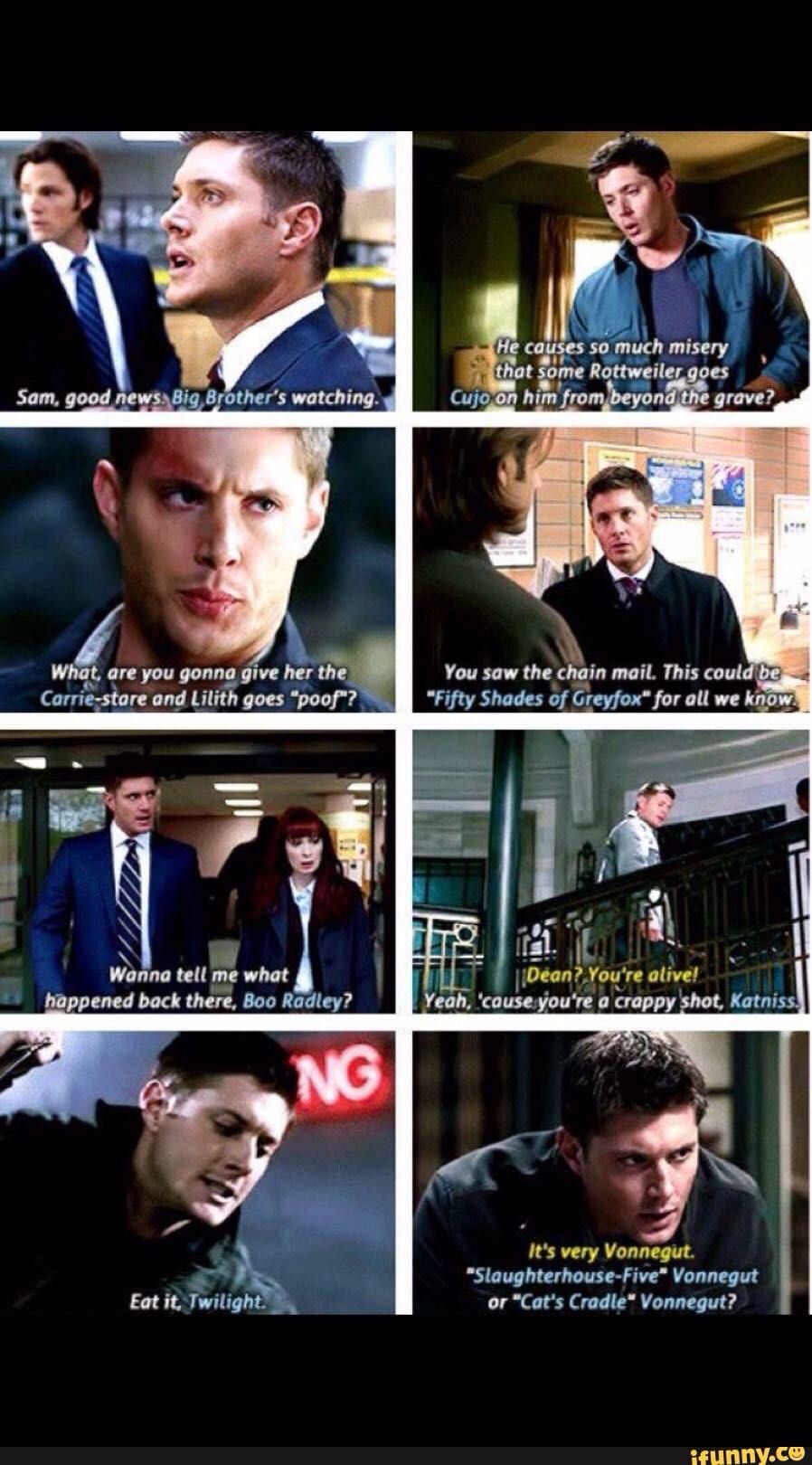 Supernatural Trash References Wattpad