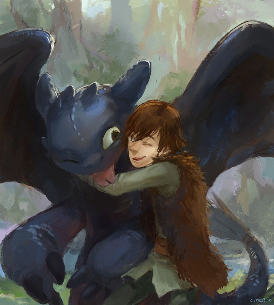 Hiccup x Toothless - Toothless returning the favor - Wattpad
