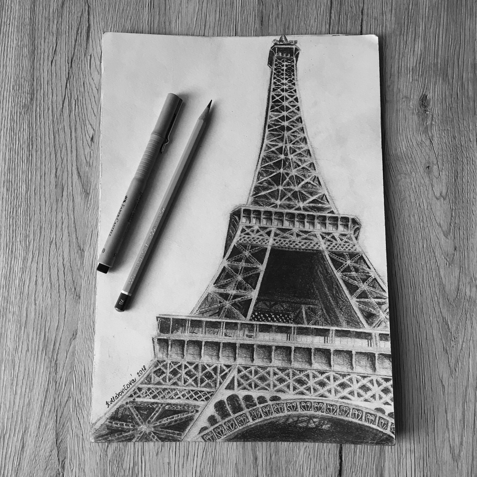 Moje Kresby Eiffelovka Wattpad