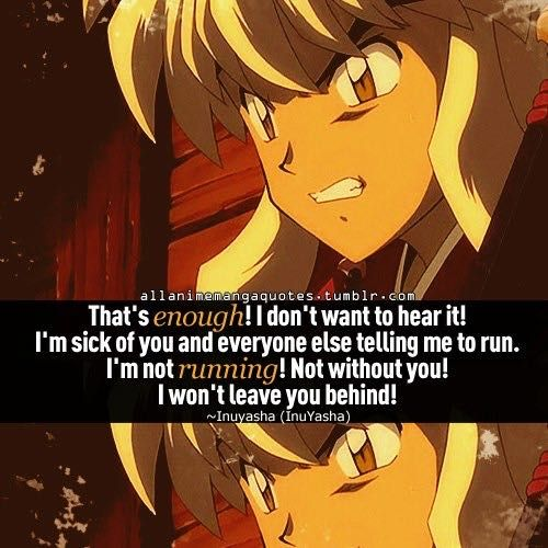 Anime Quotes Inuyasha Wattpad