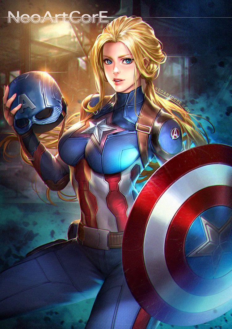 Various Oneshots - Fem!Captain America X Male Reader FULL