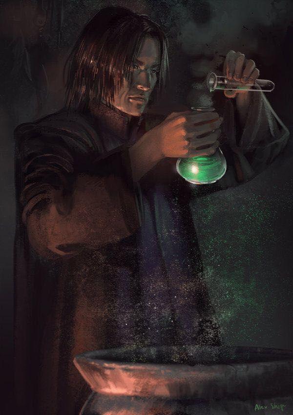 Potions Class | Draco Malfoy x Reader x Severus Snape
