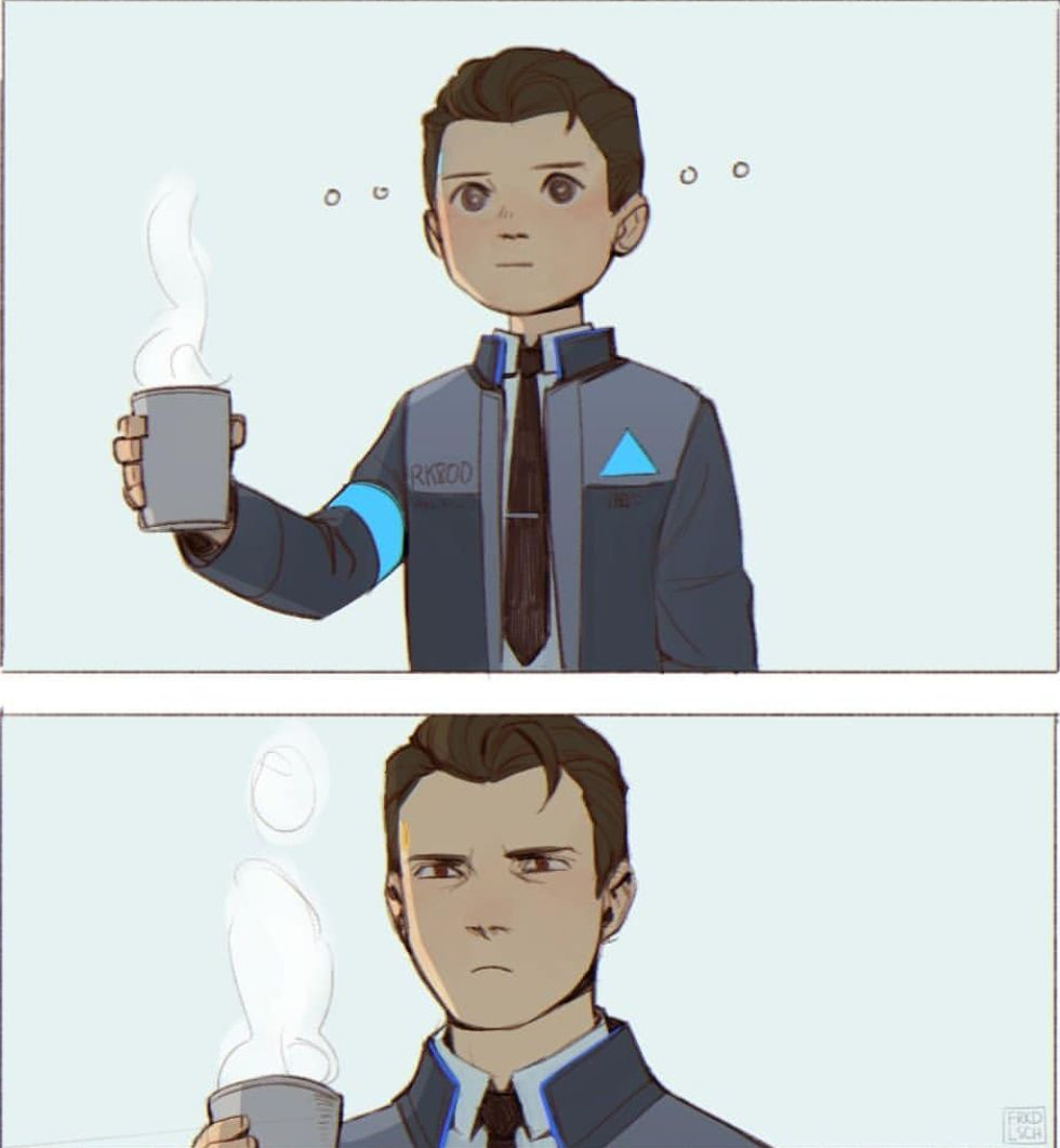 ○|DBH: Connor x Reader Oneshots|○| - |○|Coffee Mishap
