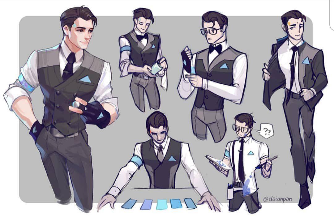 ○|DBH: Connor x Reader Oneshots|○| - |○|Sketching{Request