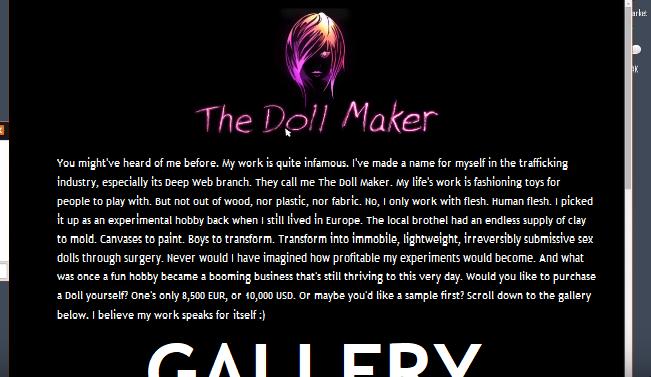 Creepy Explorations: Volume 1 (Lemon) - The Doll Maker - Wattpad