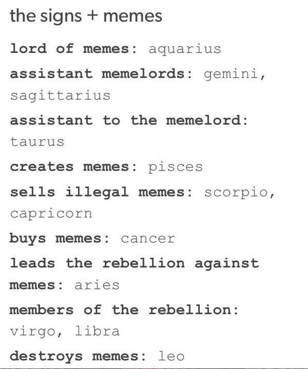ZODIAC SIGNS - BTS & NCT / COMPLETED  - the signs and memes