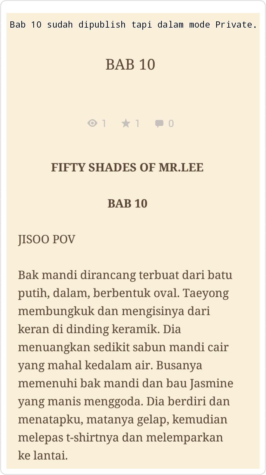 Harga Jual Sabut Mandi Panjang Mr Termurah 2018 Tcash Vaganza 29 Miniso Headphones Fifty Shades Of Lee Grey Taesoo Complete Bab 11 Wattpad