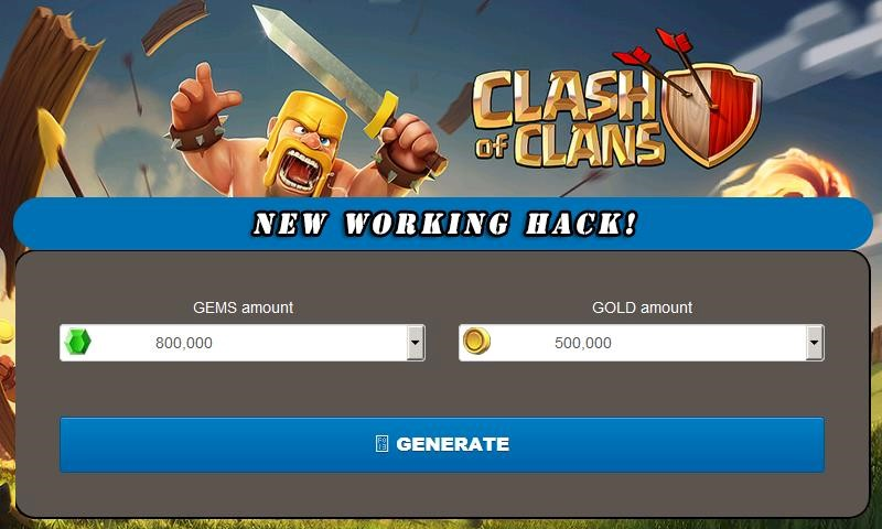 clash of clans hack no human verification or survey or offer 2018