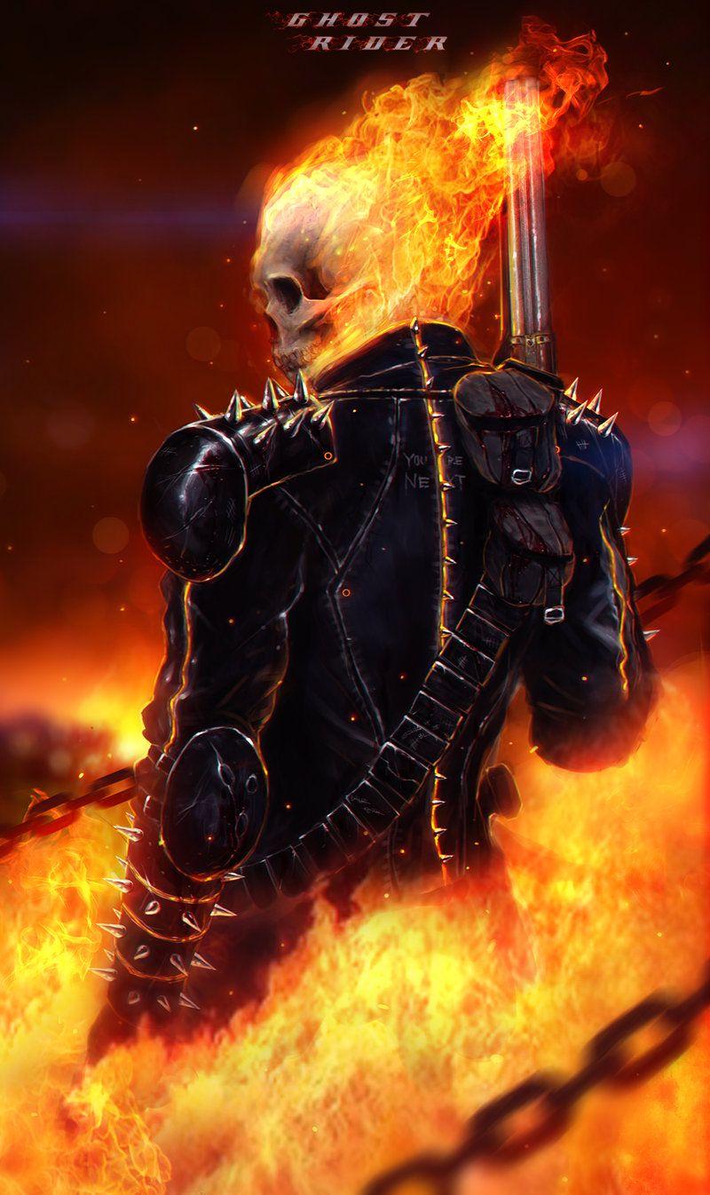 MCU (Marvel Cinematic Universe) X Male Ghost Rider Reader