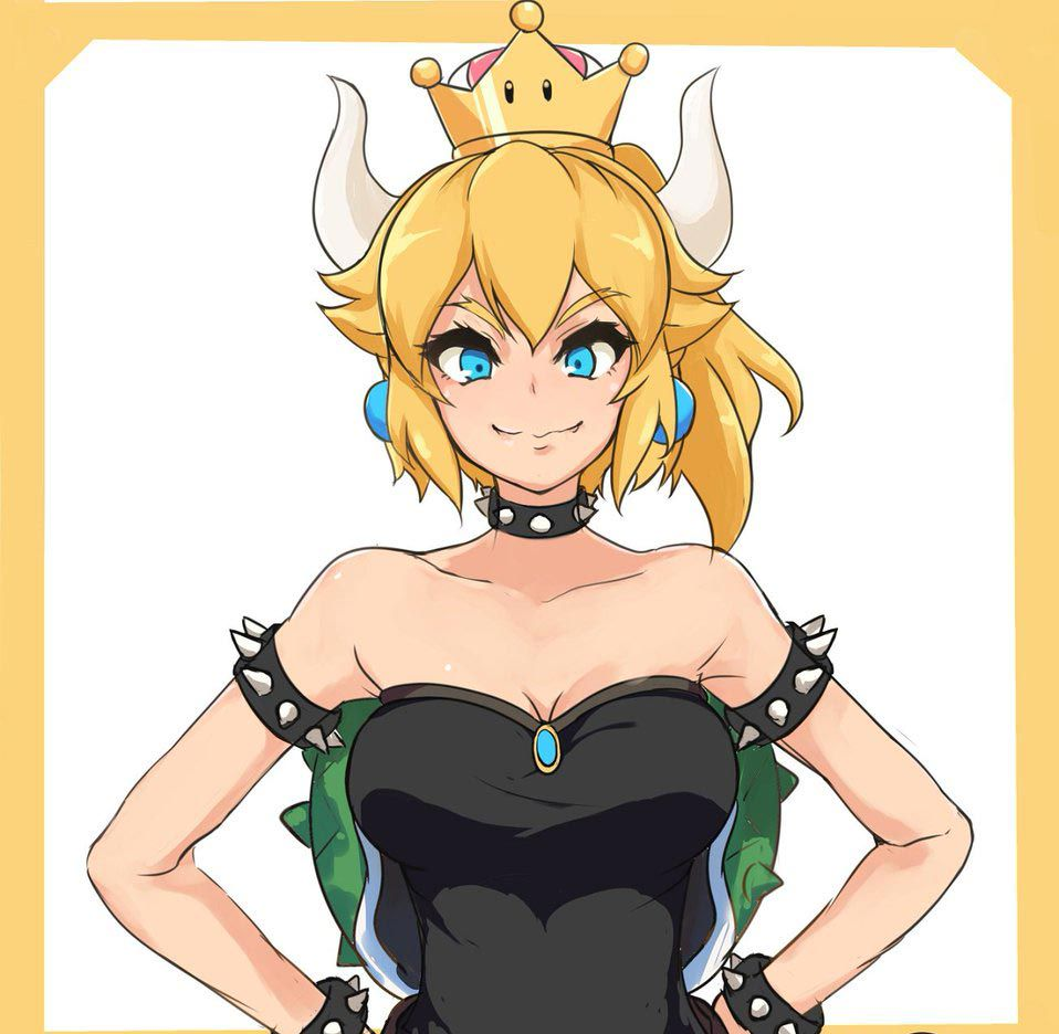 Female characters x male reader - The fake princess(Bowsette