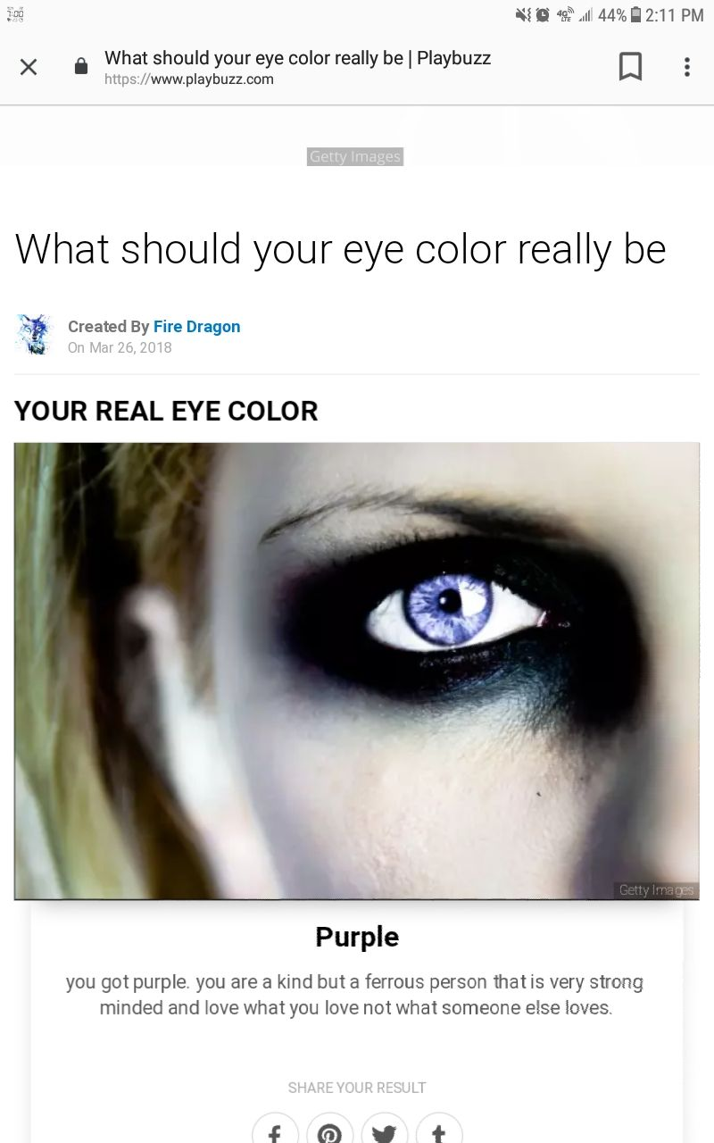 playbuzz results - what should your eye color really be
