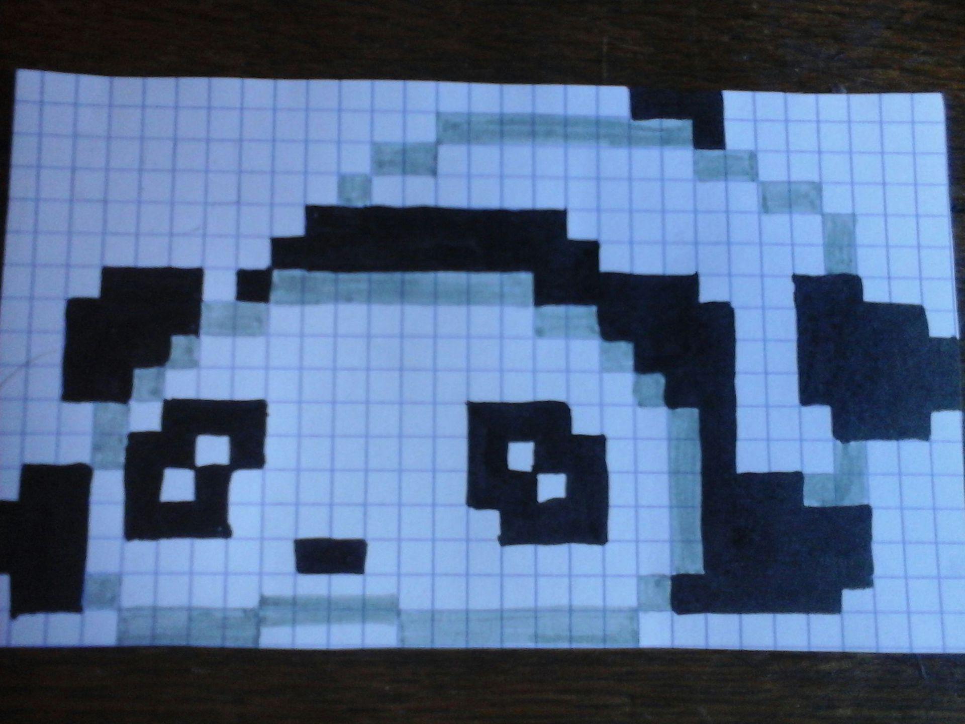 Je Dessine Et Toi Panda Pixel Art Wattpad