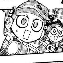 Splatoon manga x Reader - Hachi x *Scared* *Inkling* Reader