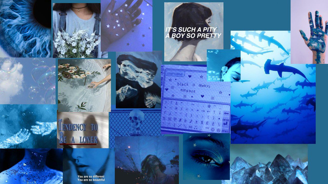 Wallpapers For Laptops Blue Aesthetic Wattpad