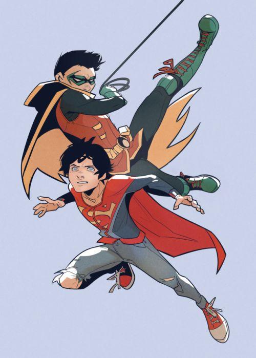 Batboys x Reader - Some Super Friends (Damian Wayne x Reader