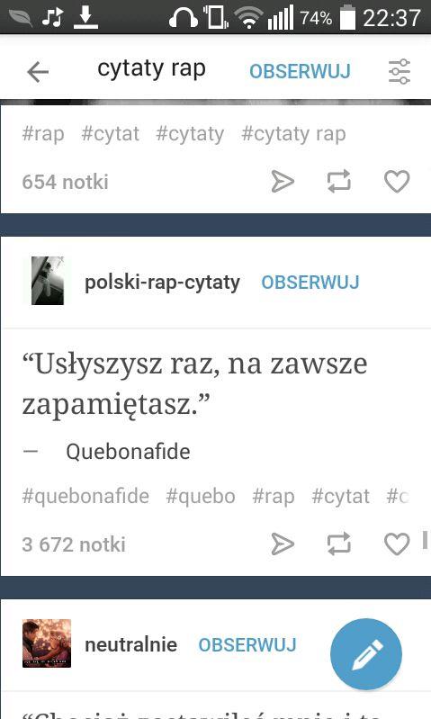 Cytaty Rap 175 Wattpad