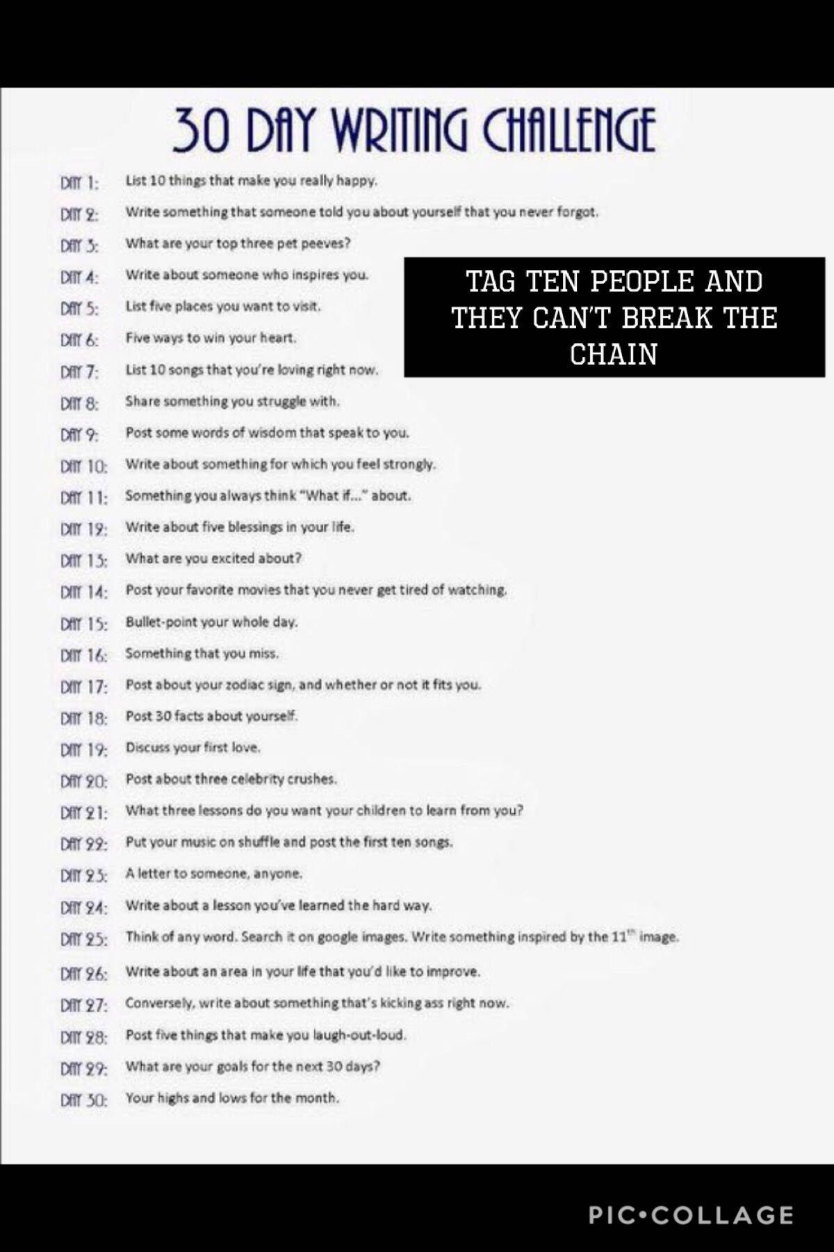 CHALLENGES - Day Twenty-Two - Wattpad