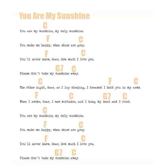 Ukulele Music You Are My Sunshine Wattpad