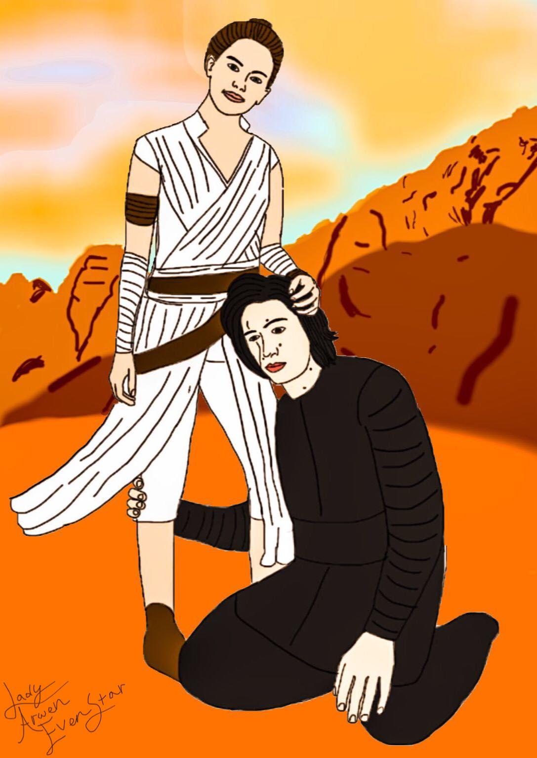 My Star Wars Fan Art Rey Ben Wattpad